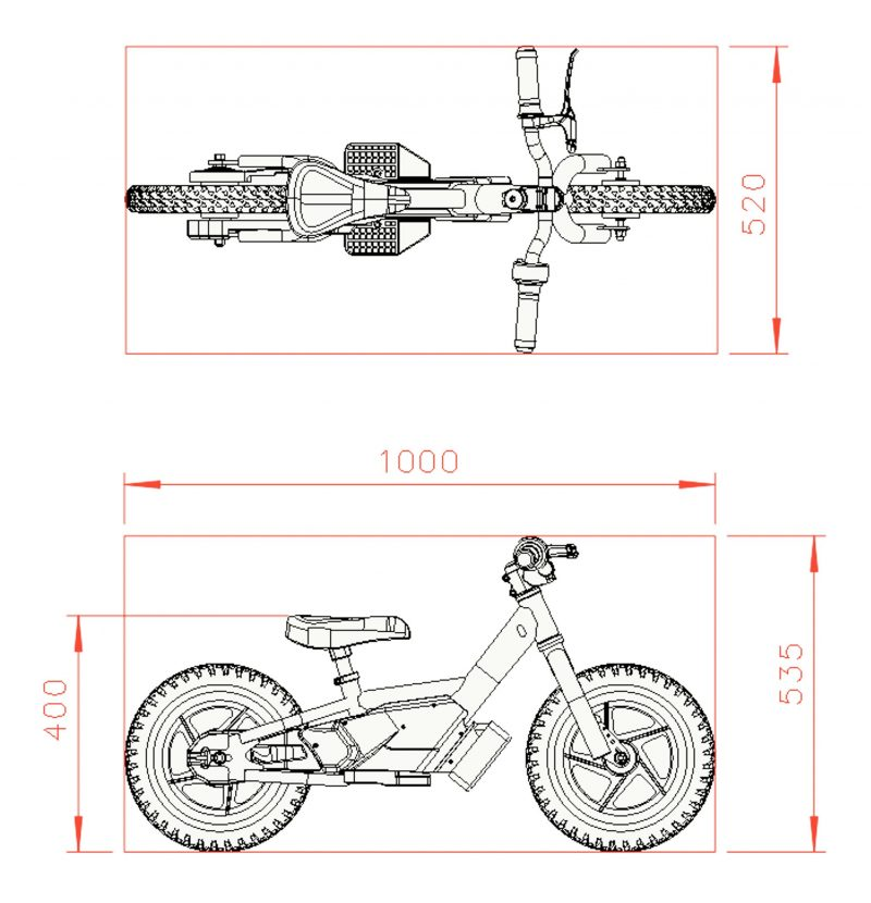 "Wired 12"" Electric Balance Bike"
